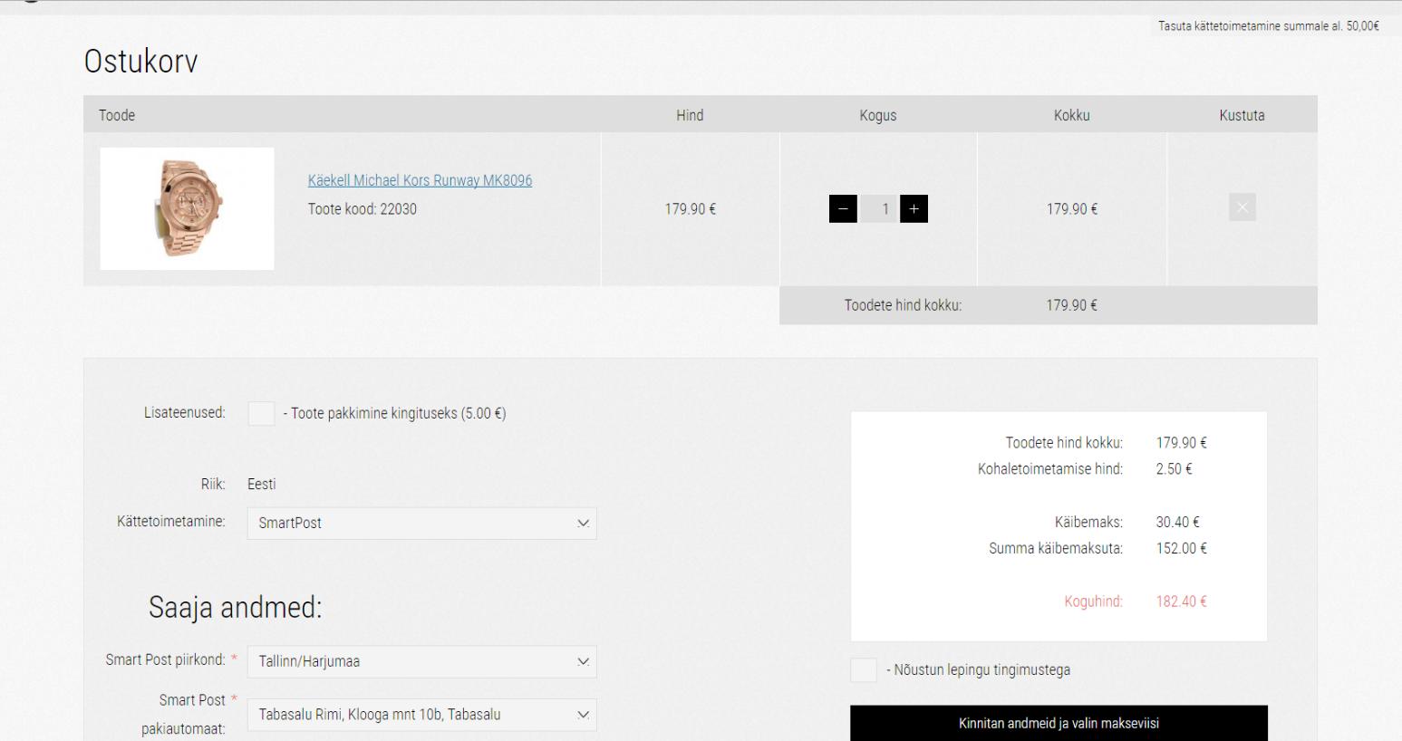 Development and design of Blackpepper e-store