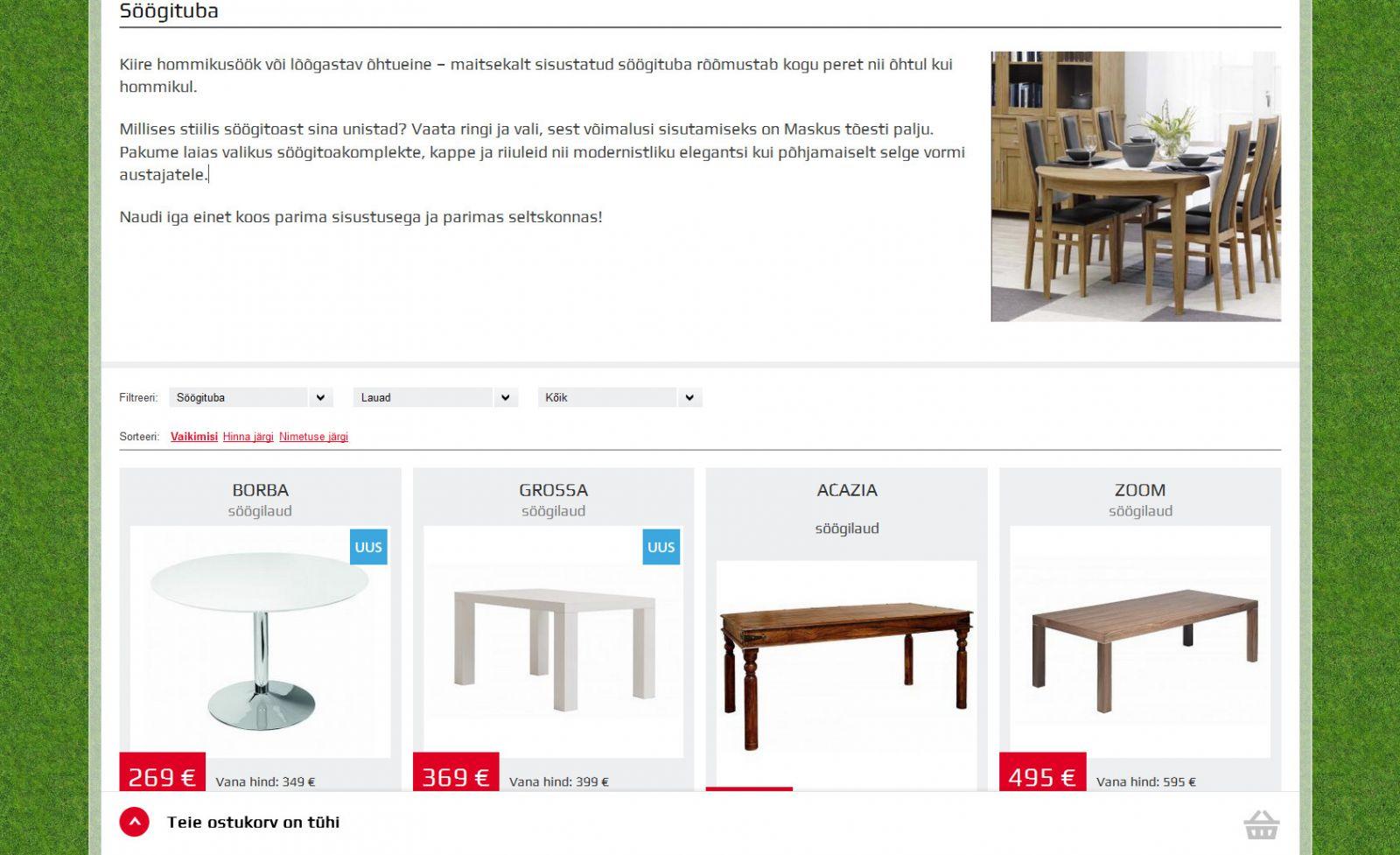 Разработка мебельного интернет-магазина Masku
