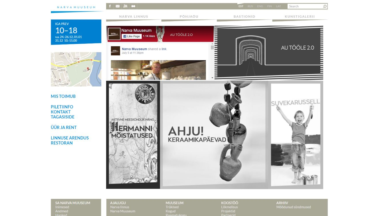 Narva Museum website updating
