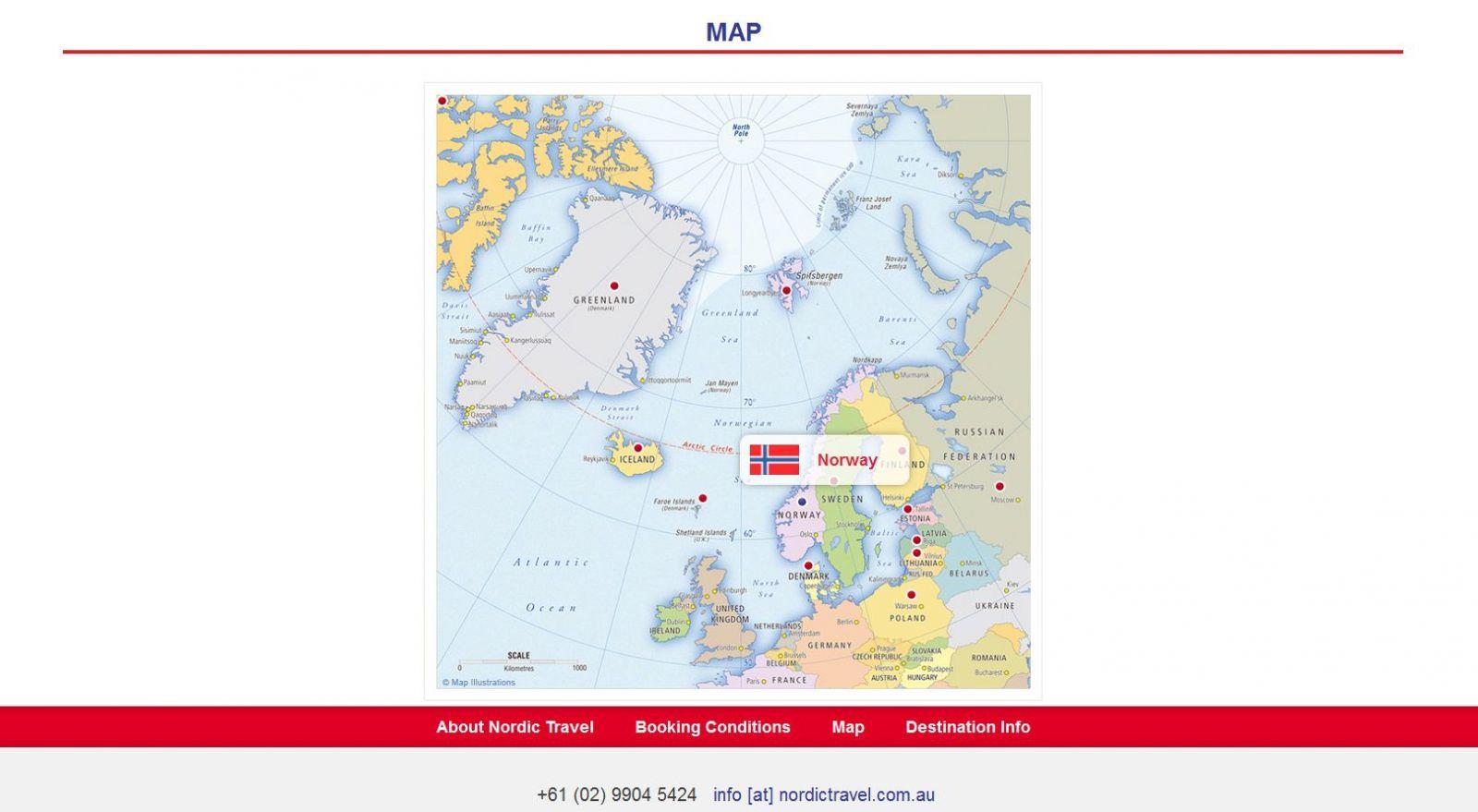 Nordic Travel veebilehe uuendus
