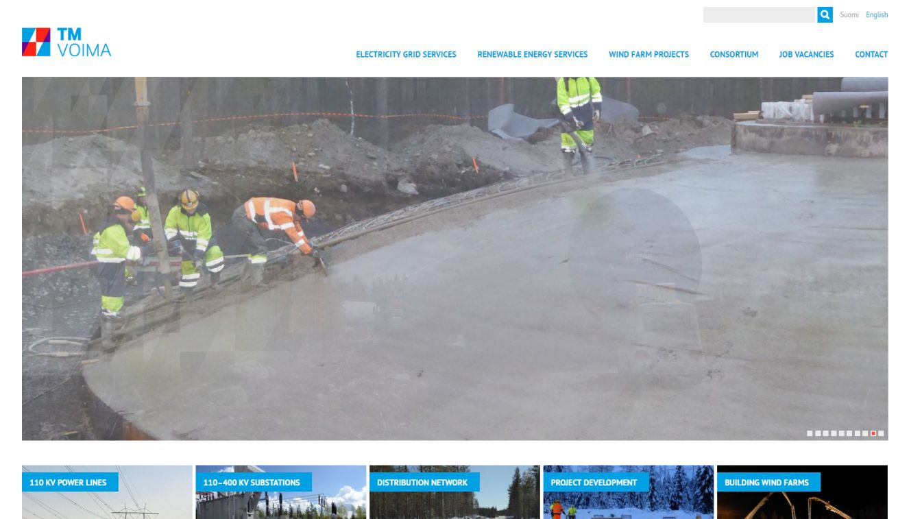 TM Voima website development